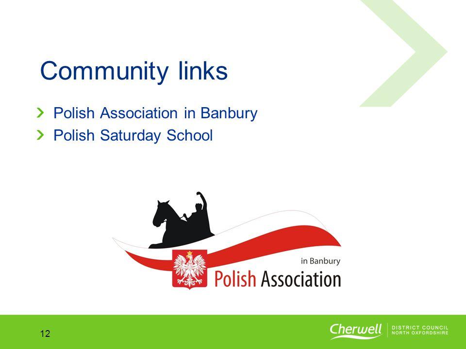 No.No. 12 Community links Polish Association in Banbury Polish Saturday School