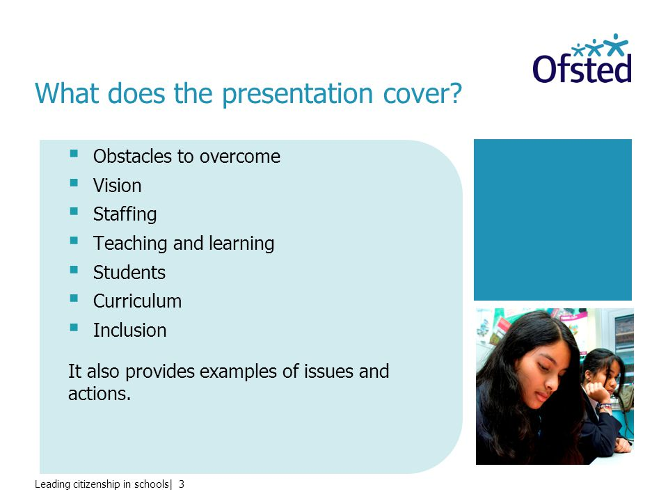 Leading citizenship in schools  4 What were the main obstacles that Ofsted identified.