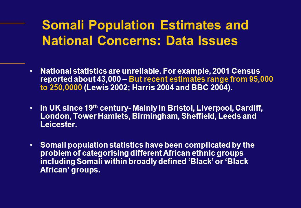 Underachievement Debate and National Concerns: GCSE 5+A*-C Issues - 2006 Black Caribbean, African and Somali pupils lag far behind the average achievement of their peers.