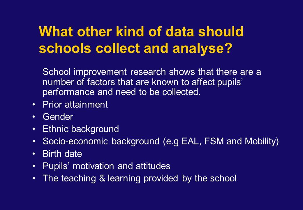 Using FSP Data for School Self-evaluation