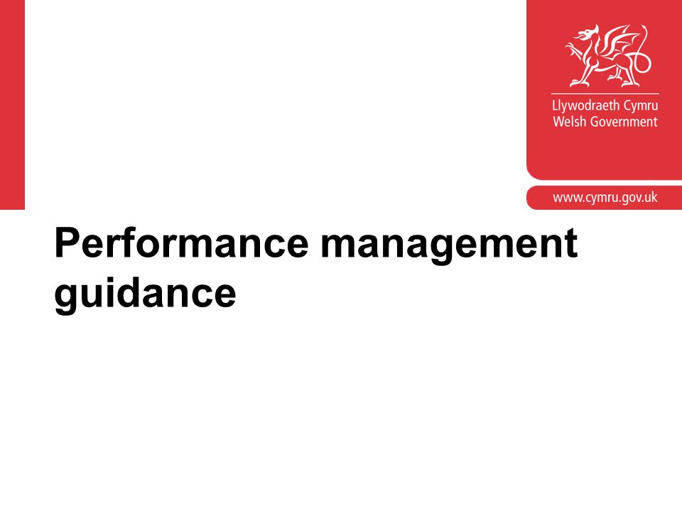 Performance management guidance
