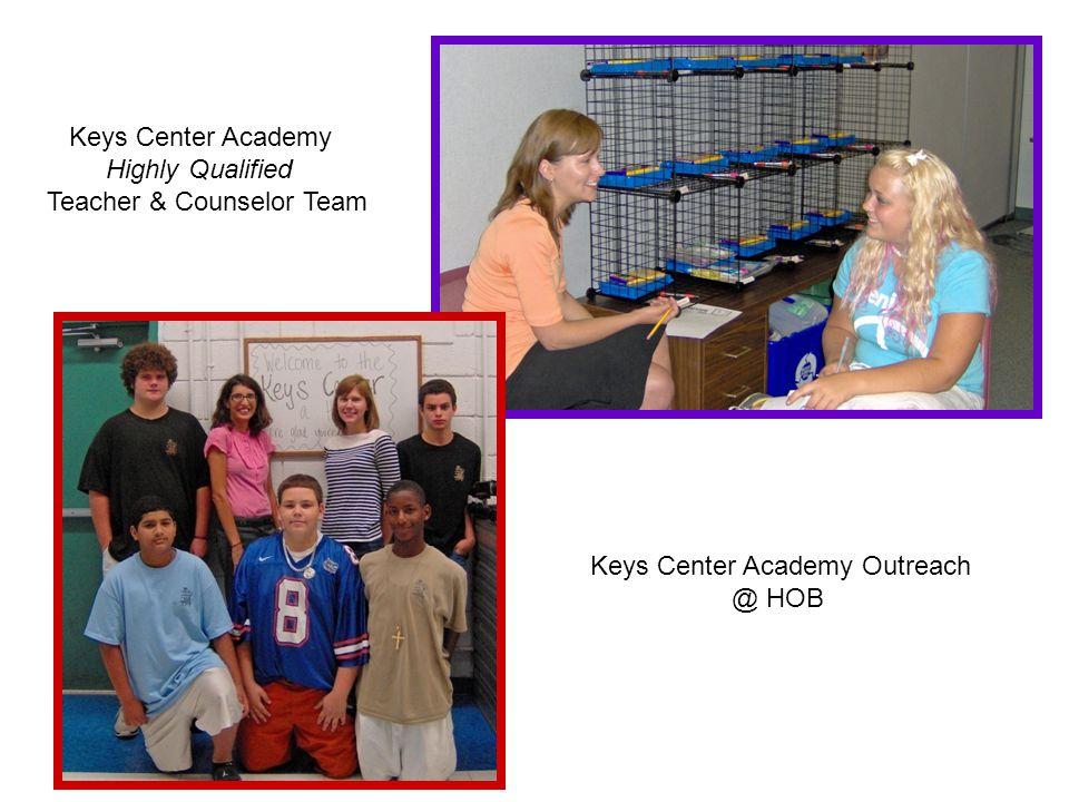 Keys Center Academy Highly Qualified Teacher & Counselor Team Keys Center Academy Outreach @ HOB