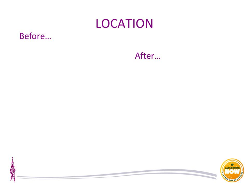 LOCATION Before… After…