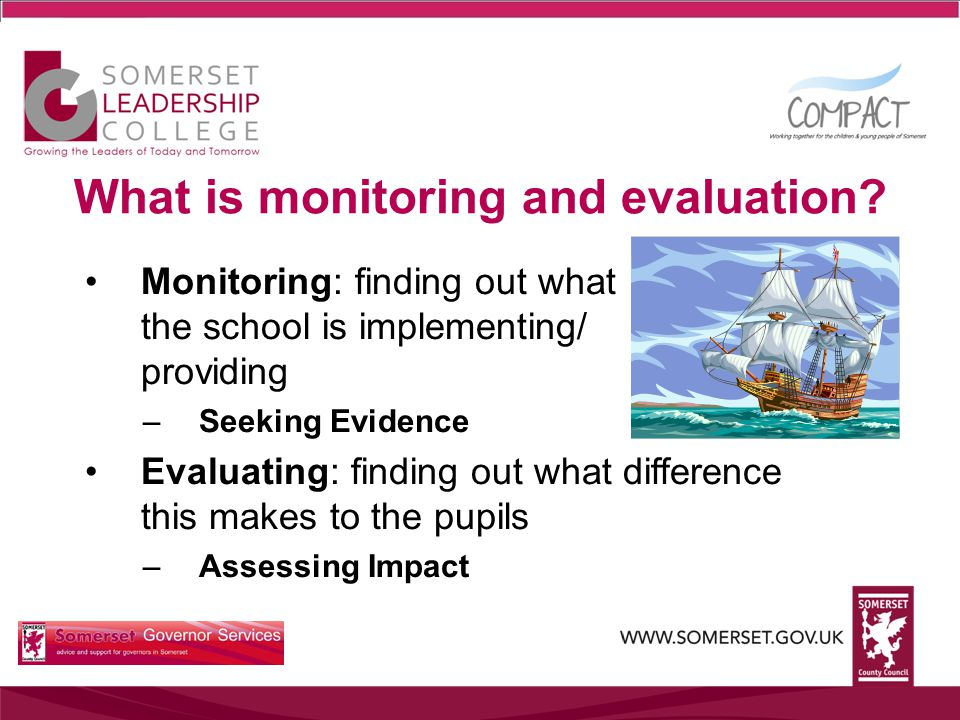 What is monitoring and evaluation.