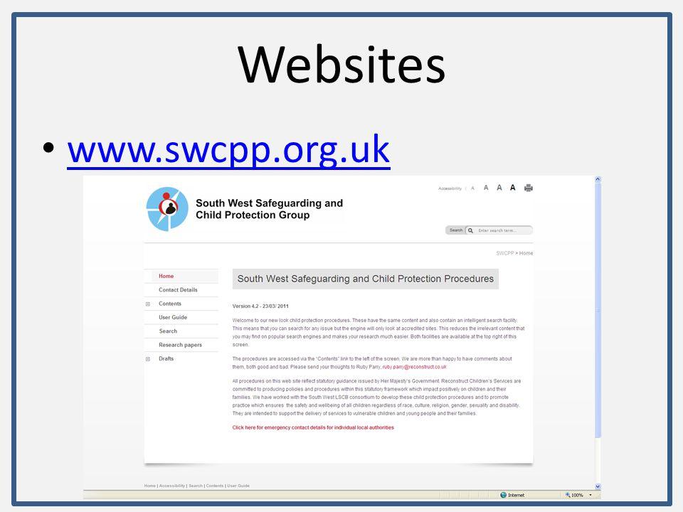 Websites www.swindonlscb.org.uk