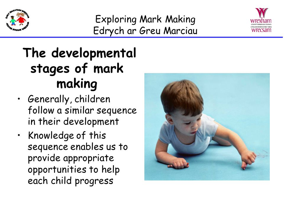 Exploring Mark Making Edrych ar Greu Marciau The Role of the Adult What is your role in creating confident mark makers?