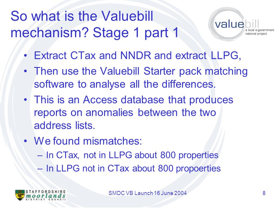 SMDC VB Launch 16 June 20048 So what is the Valuebill mechanism.
