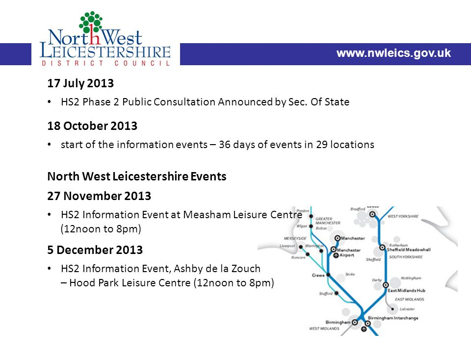 17 July 2013 HS2 Phase 2 Public Consultation Announced by Sec.