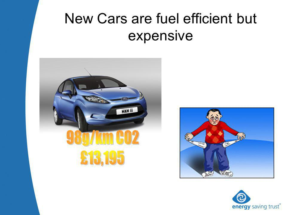 New Cars are fuel efficient but expensive