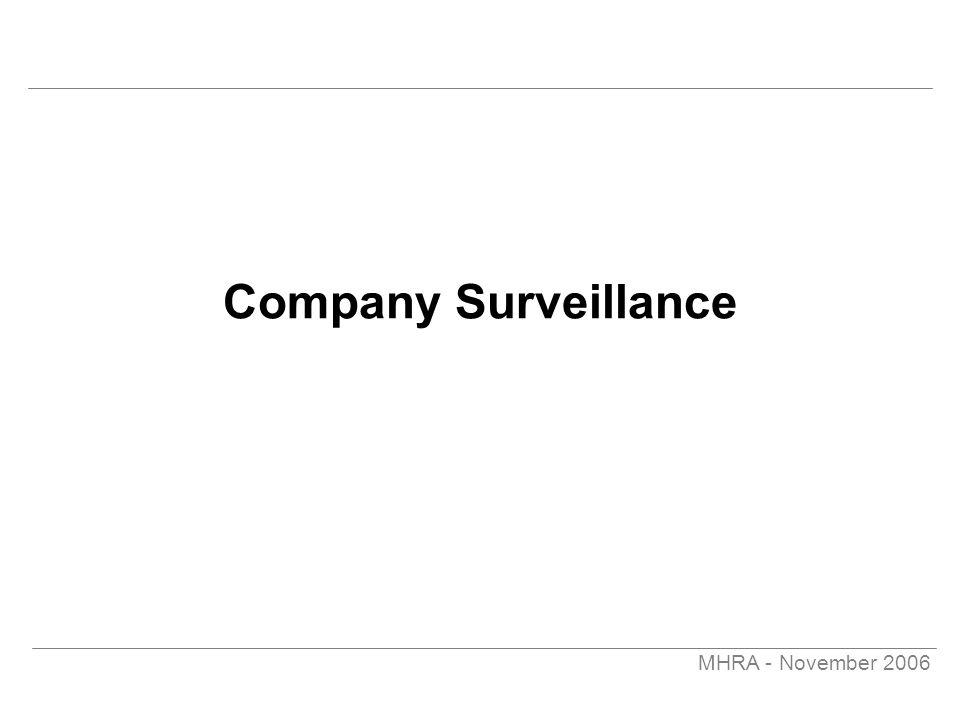 MHRA - November 2006 Company Surveillance