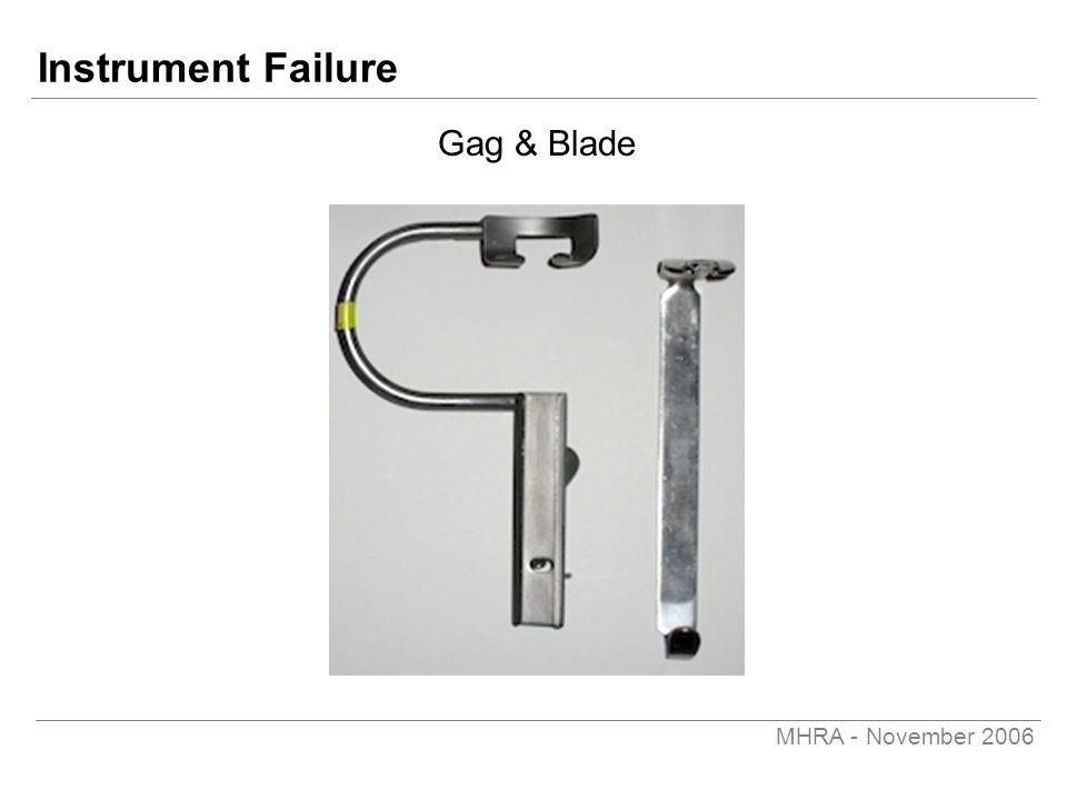 MHRA - November 2006 Instrument Failure Gag & Blade