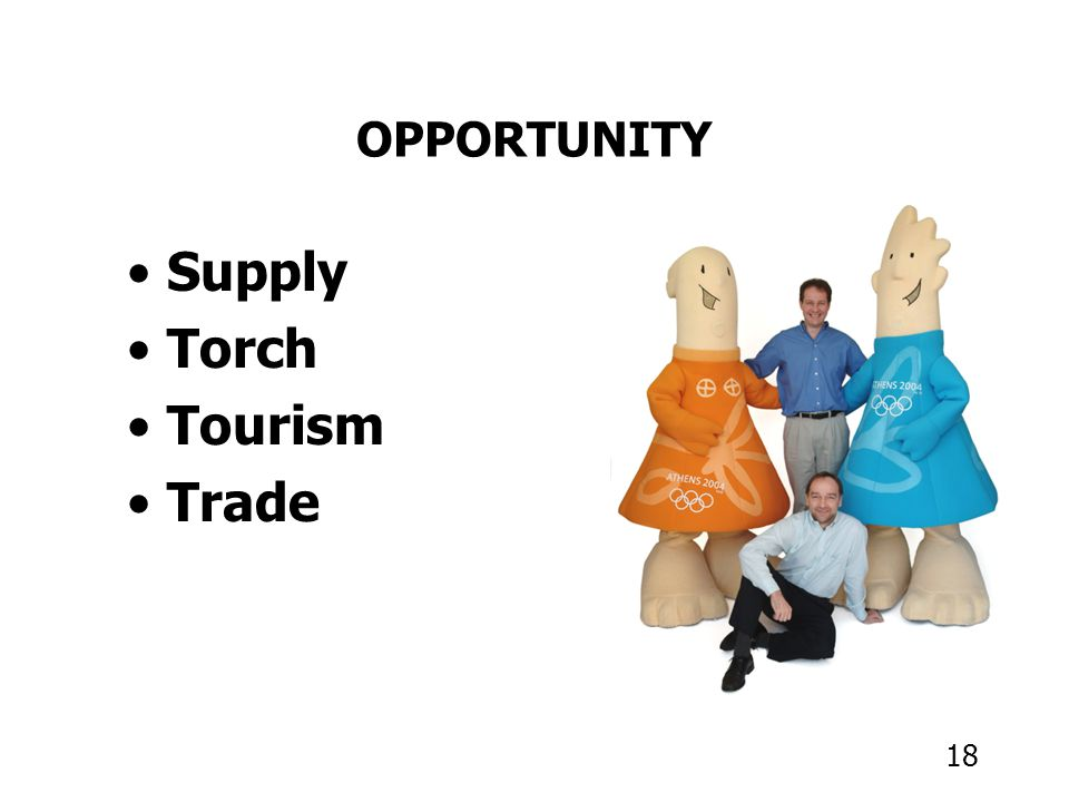 18 OPPORTUNITY Supply Torch Tourism Trade