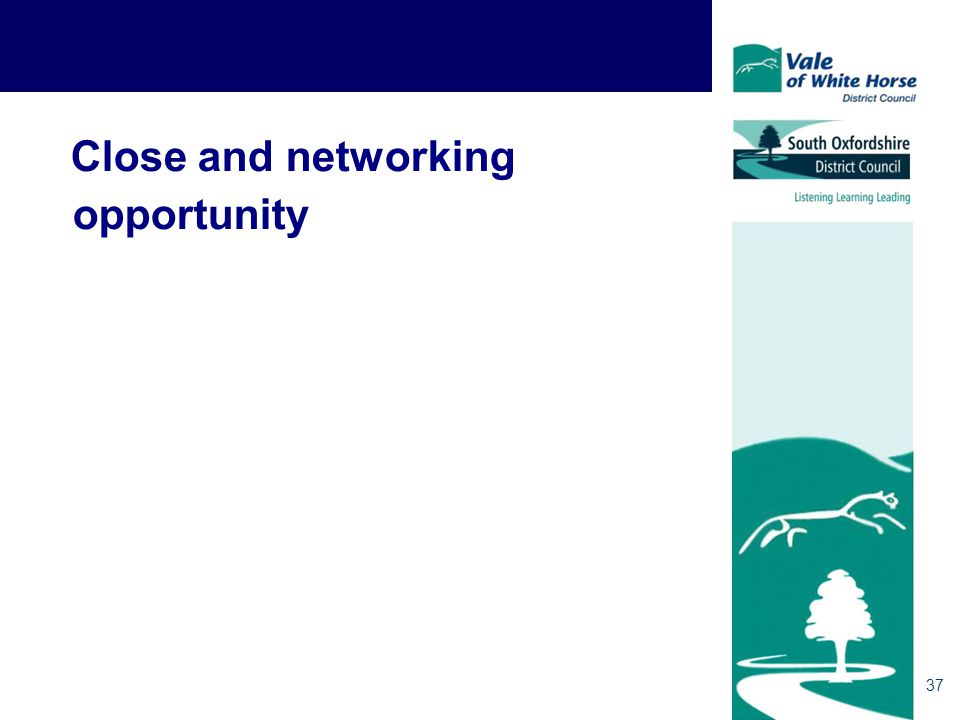 37 Close and networking opportunity