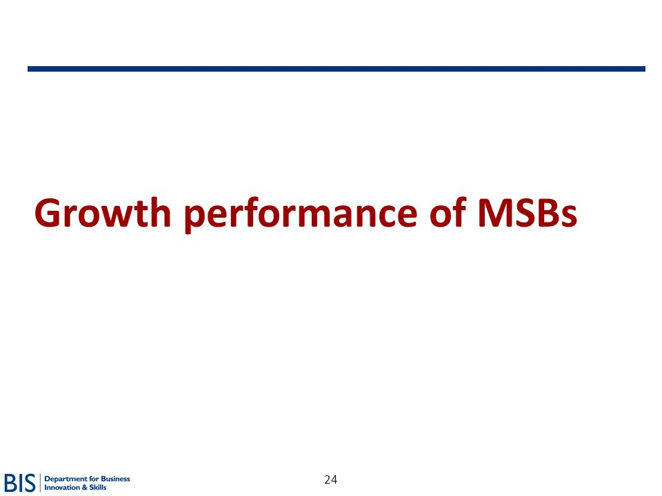 24 Growth performance of MSBs