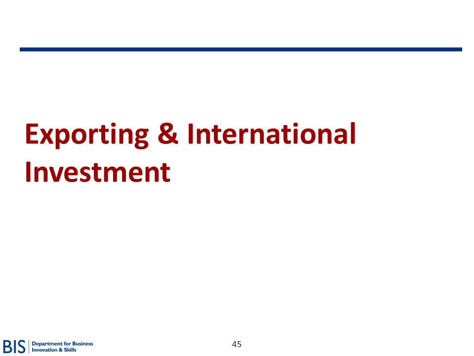 45 Exporting & International Investment