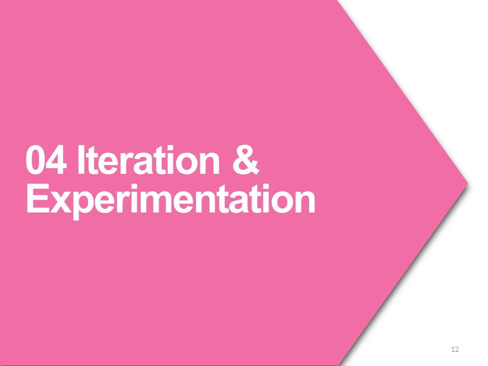 04 Iteration & Experimentation 12