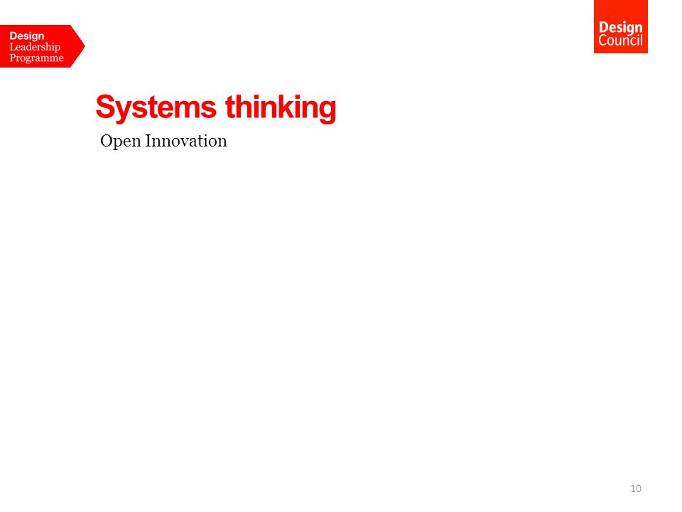 Systems thinking 10 Open Innovation