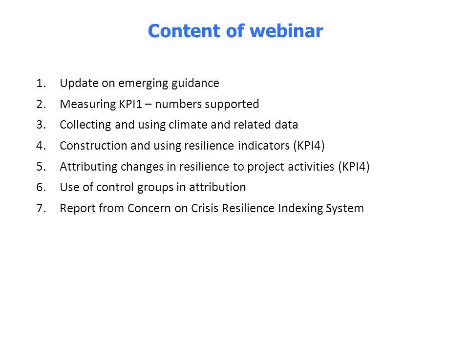 4 1. Update on emerging guidance