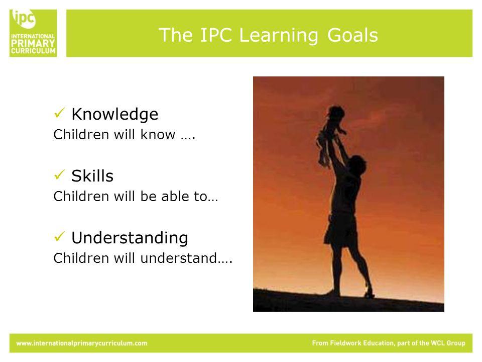 Knowledge Children will know ….
