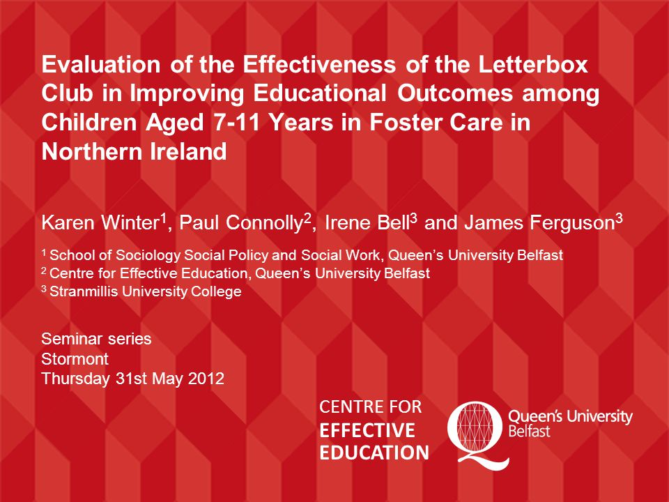 4. Evidence of the effectiveness of the Letterbox Club Main Findings: Number Skills