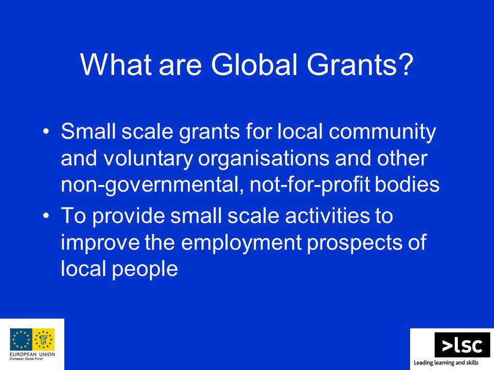 What are Global Grants.