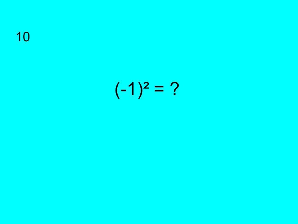 (-1)² = ? 10