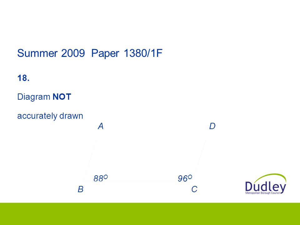 Summer 2009 Paper 1380/1F 18.