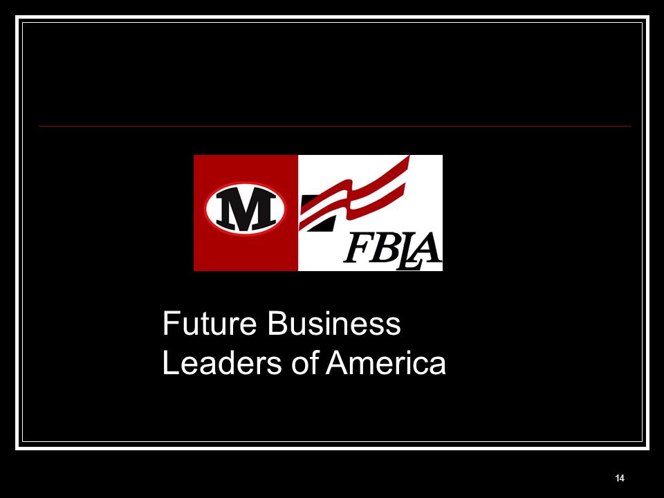 14 Future Business Leaders of America