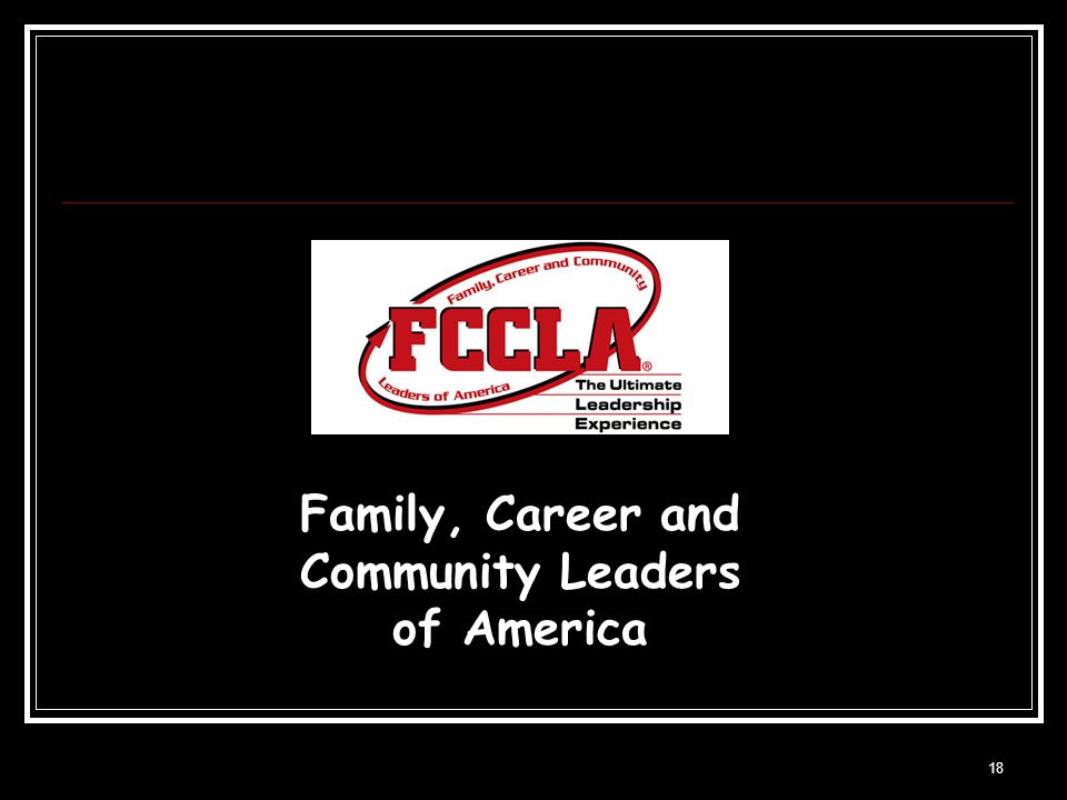 18 Family, Career and Community Leaders of America