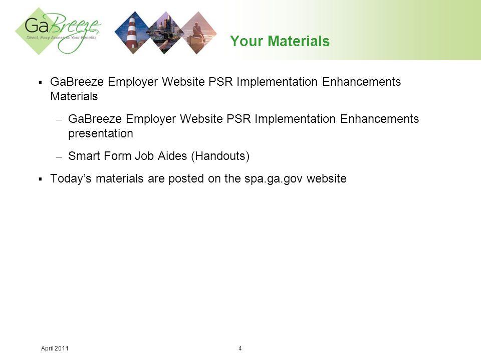 April 2011 15 Employer Website Enhancement #3 (Continued):