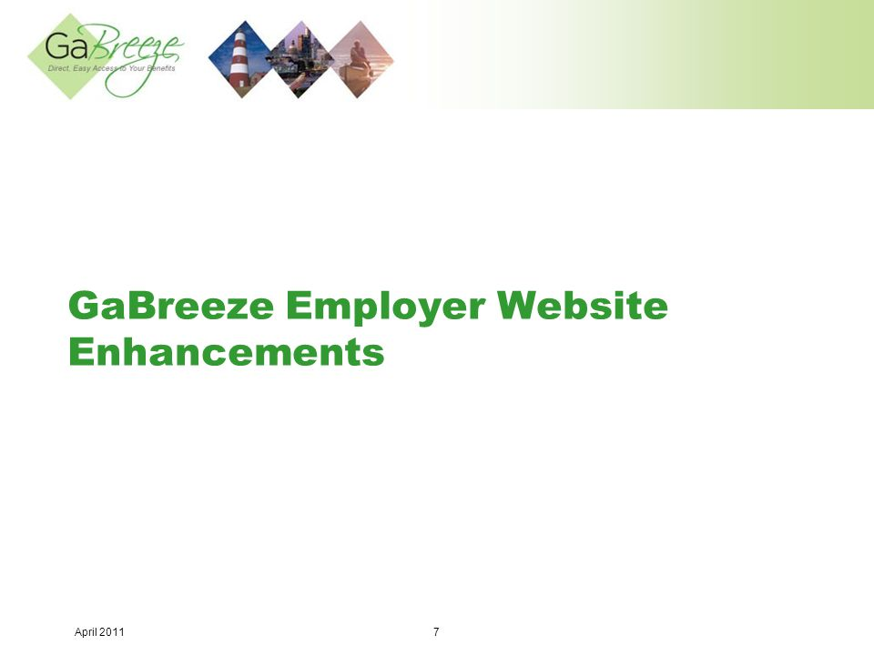 April 2011 8 Employer Website Enhancement #1: Add new fields to the existing new hire and data maintenance forms  On the Employment Information section: – Annual Salary (optional) – Hourly Salary (optional) – EEO Code – Equal Employment Opportunity (optional) – The GSEPS Initial Opt Out Indicator field will be visible but if selected a critical edit will appear if GSEPS is selected as the Retirement Code for a new employee since your agency is not GSEPS-participating.