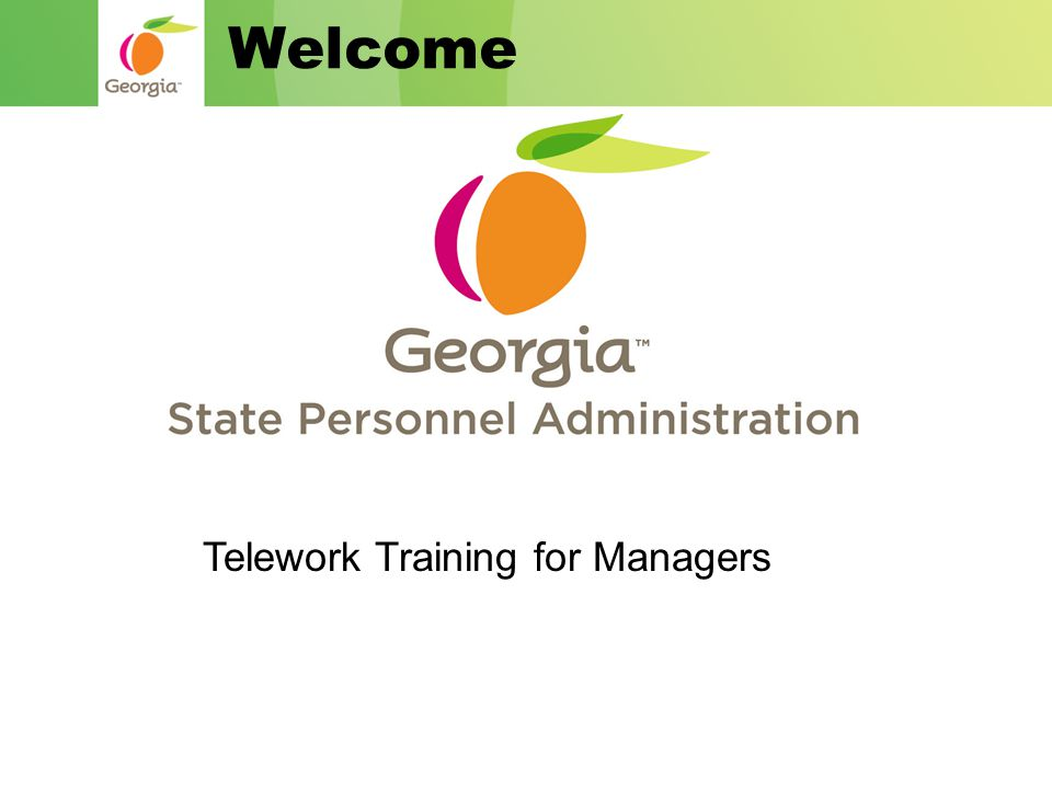 Welcome Telework Training for Managers
