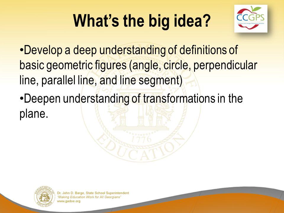 What's the big idea.