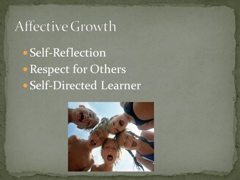 Self-Reflection Respect for Others Self-Directed Learner