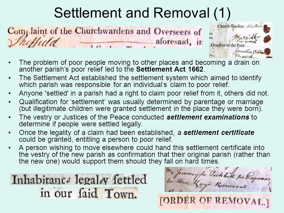 Settlement and Removal (2) By handing in this certificate to the parish vestry at Bolton upon Dearne, Thomas Lambert would have been able to prove that he was coming to Bolton upon Dearne for legitimate purposes (i.e.