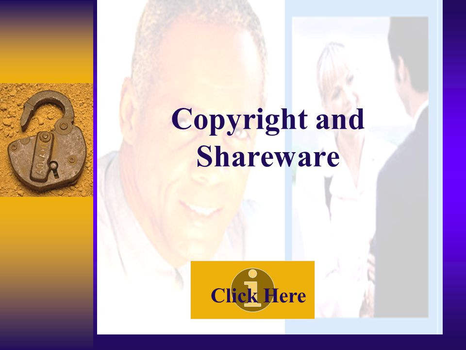 Copyright and Commercial Software Use Click Here