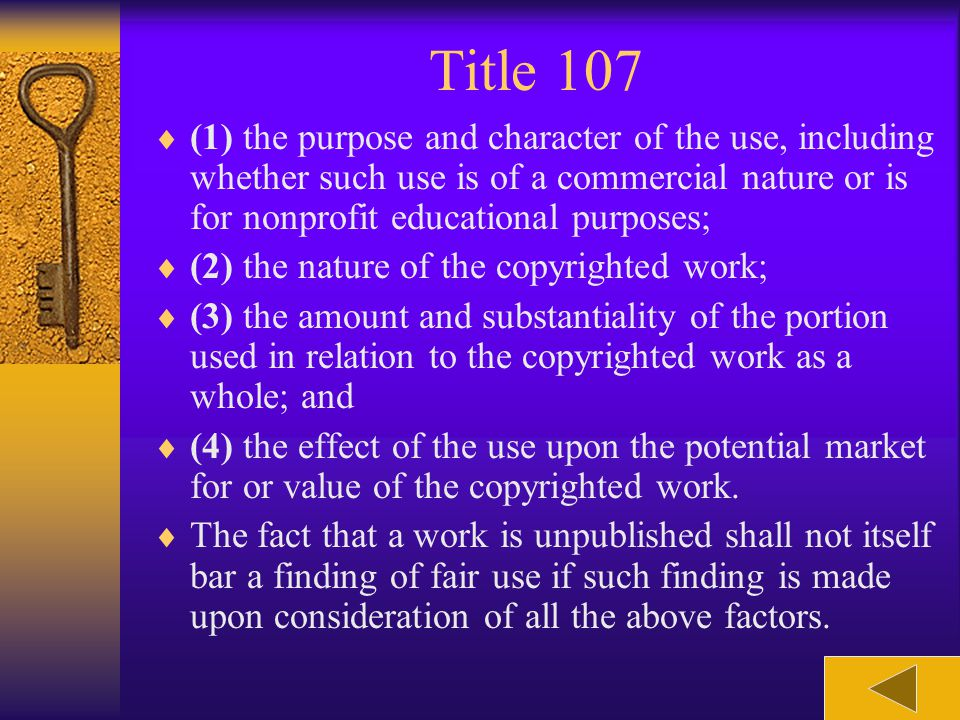 Title 107 news reporting, teaching (including multiple copies for classroom use), scholarship, or research, is not an infringement of copyright. In de