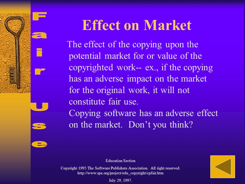 Amount and Quantity Copied The amount and substantiality of the portion that is copied in relation to the copyrighted work as a whole--ex. the more th