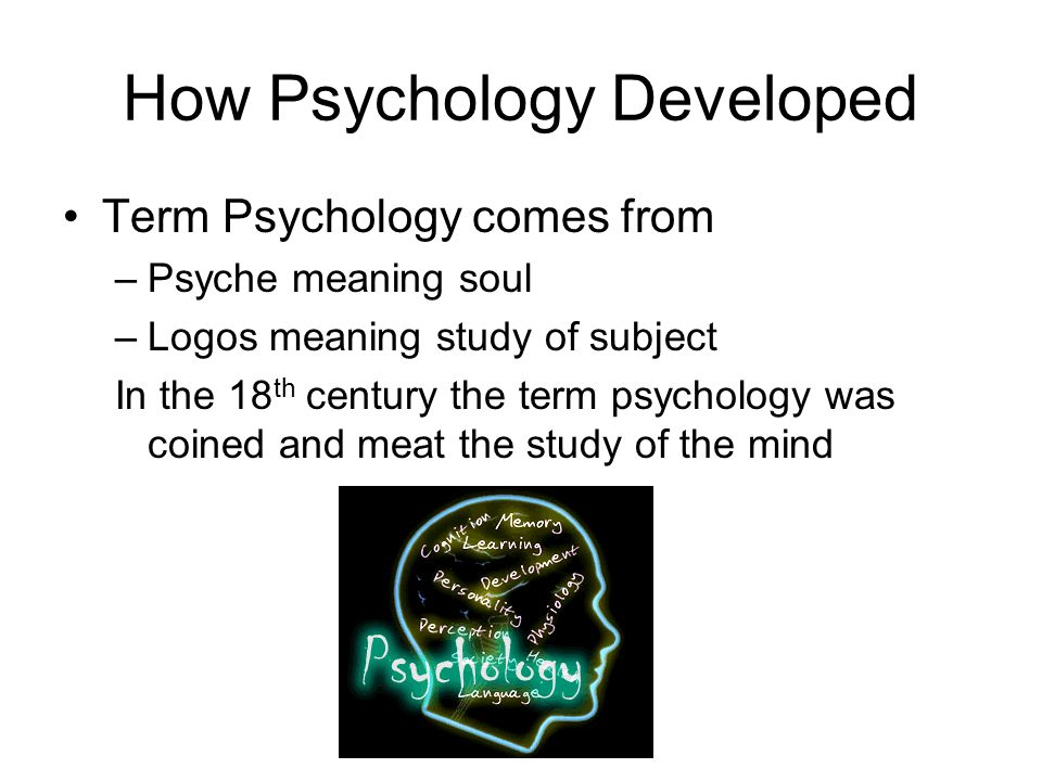 Psychology is born Psychology began to develop in other disciplines such as philosophy and physiology German Professor Wilhelm Wundt campaigned to make psychology an independent study.