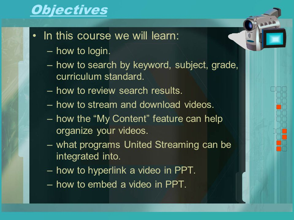 Objectives In this course we will learn: –how to login.