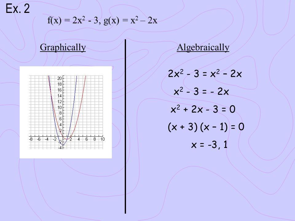 f(x) = 2x 2 - 3, g(x) = x 2 – 2x Ex.
