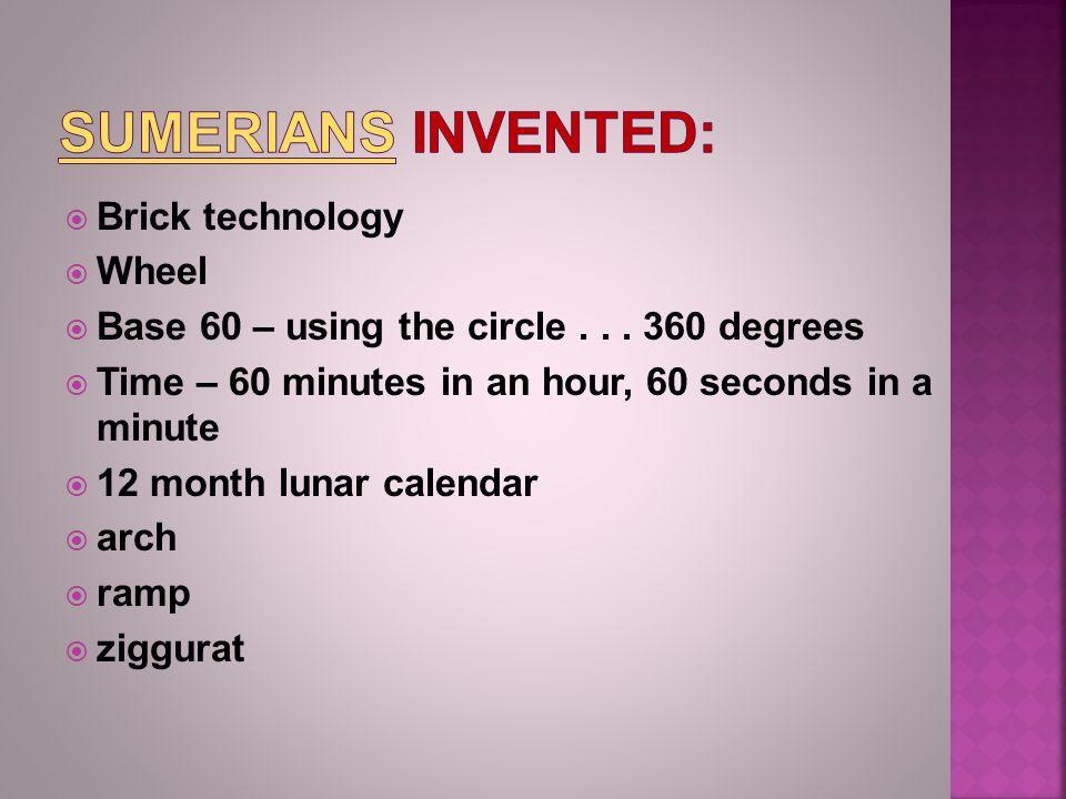  Brick technology  Wheel  Base 60 – using the circle...