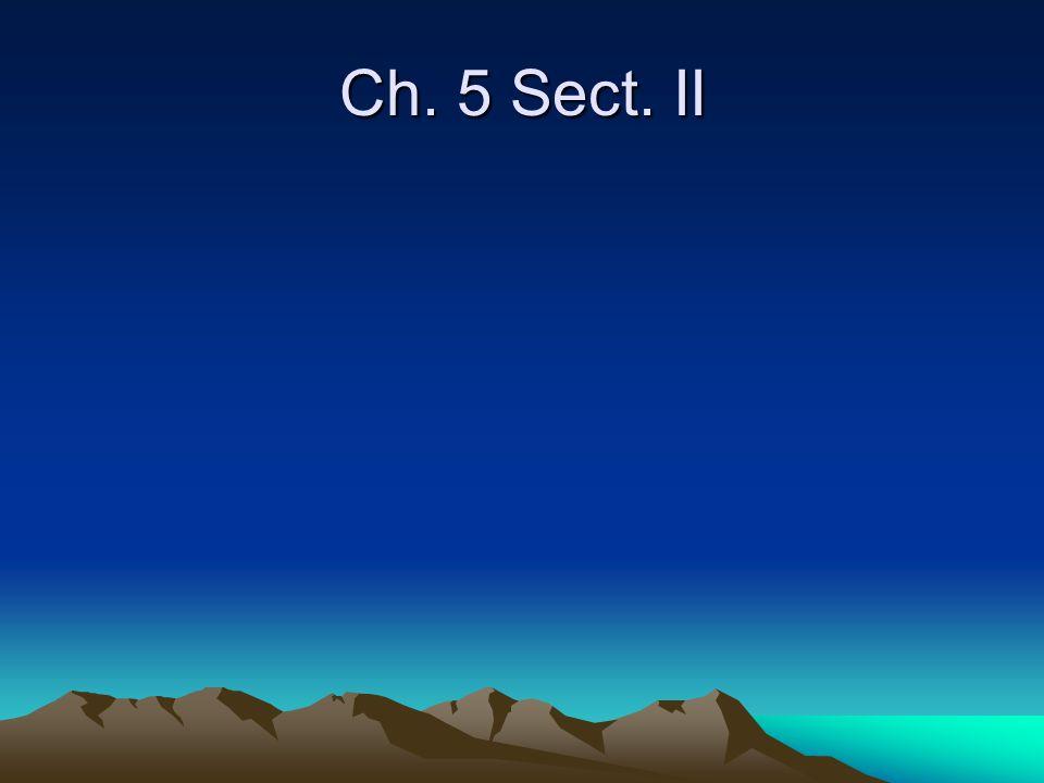 Ch. 5 Sect. II