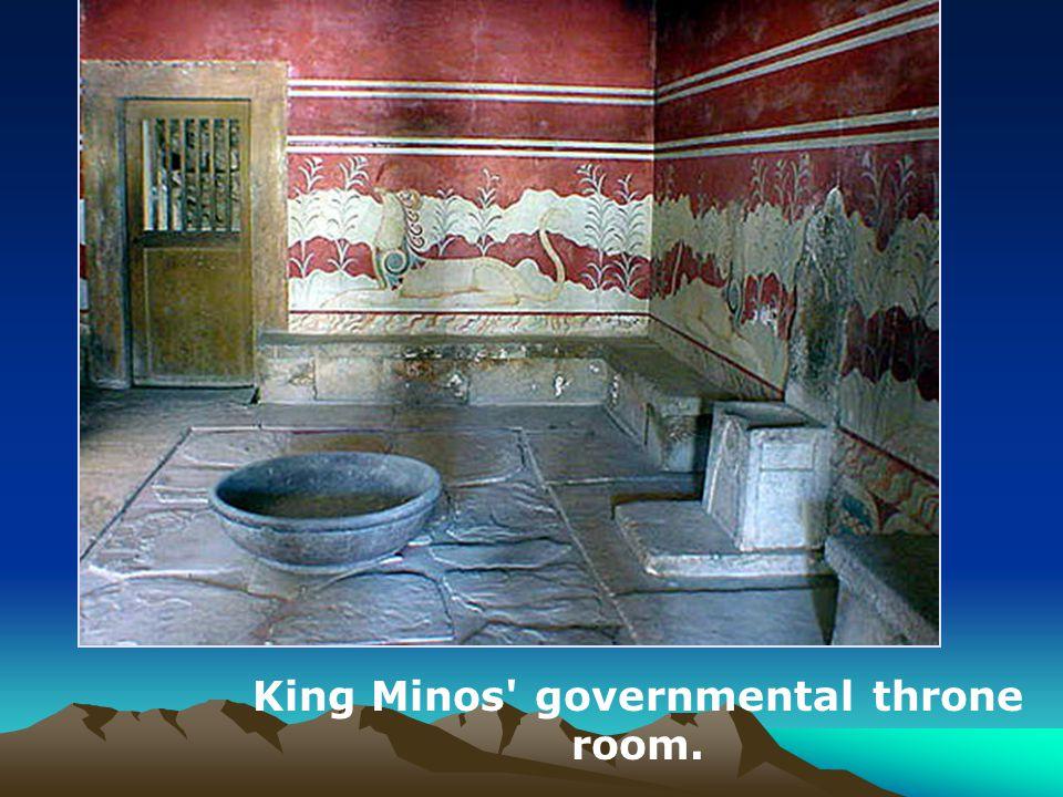King Minos governmental throne room.