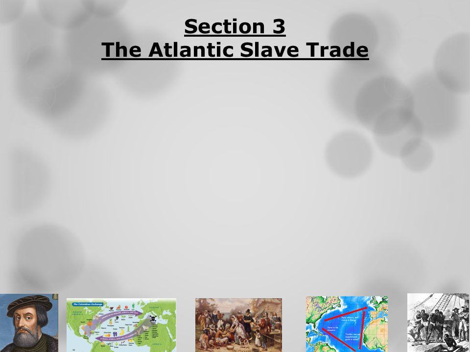 Section 3 The Atlantic Slave Trade