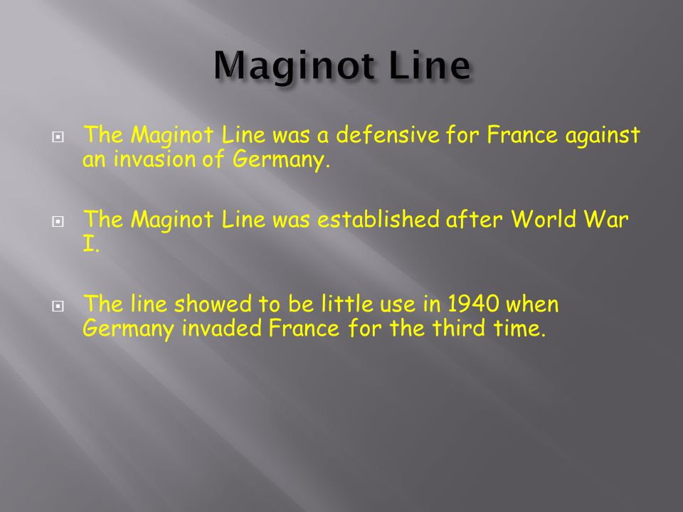  Britain sent troops to wait with the French down behind the Maginot Line.