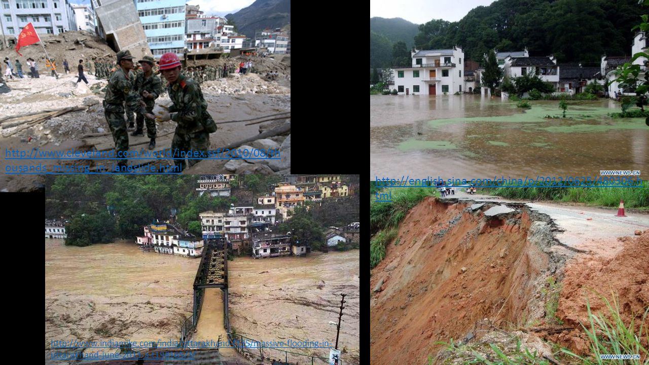 http://www.cleveland.com/world/index.ssf/2010/08/th ousands_missing_in_landslide.html http://english.sina.com/china/p/2012/0625/480306.h tml http://ww