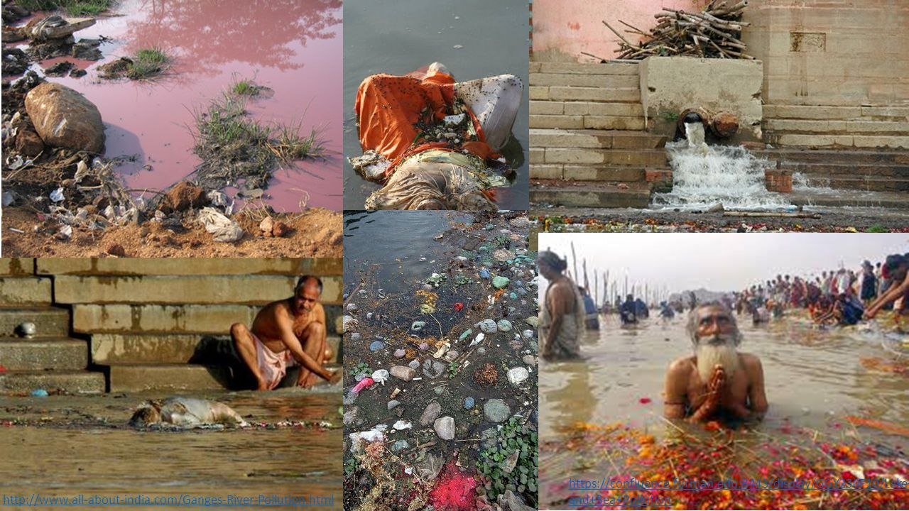 http://www.all-about-india.com/Ganges-River-Pollution.html https://confluence.furman.edu:8443/display/GGY230F10/Lake+ and+Sea+Pollution