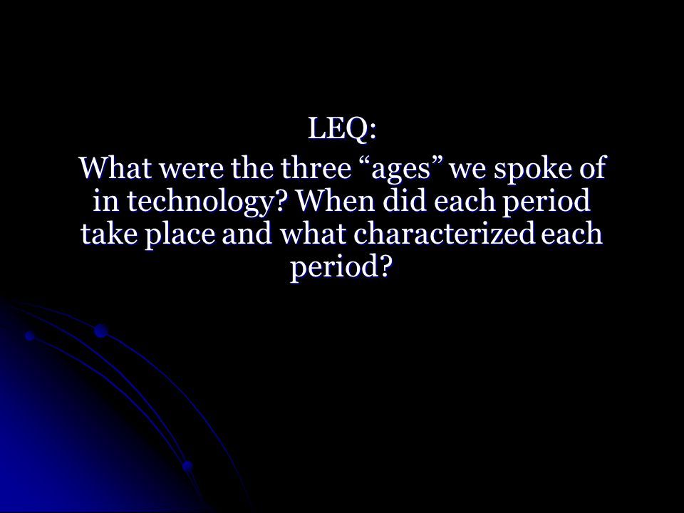 LEQ: What is an emerging technology?