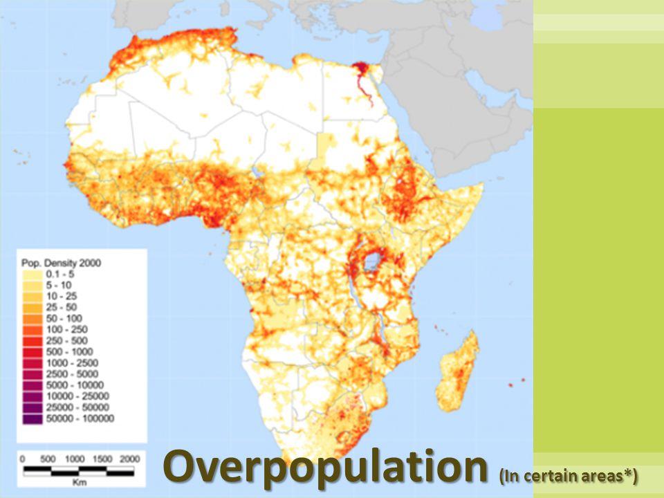 Overpopulation (In certain areas*)